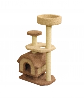 Пушок Домик для кошки Конура на ножках