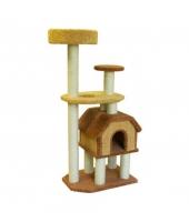 Пушок Домик для кошки Конура на высоких ножках