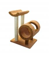 Пушок Когтеточка для кошки с трубой и седлом