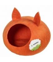 """Домик """"Уютное гнездышко"""" с ушками  оранжевый"""