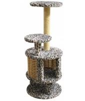 Когтеточка дом для кошки Пушок Круглый с плетеными стенками