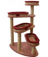 Пушок  Домик для кошки Винтовая лестница с плетеными лежанками