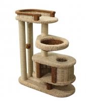Пушок когтеточка домик для кошки Брунетка