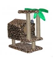 Домик для кошки Пушок Тропический на ножках.
