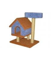 Пушок Домик для кошки Избушка с лежанкой