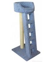 Пушок Когтеточка для кошки Лежанка с лестницей