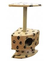 Когтеточка домик для кошки Пушок Угловой на ножках